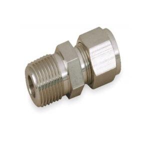 CONECTOR MACHO DE 3/4 NPT X 1/2 O.D (TUBING) MATERIAL EN ACERO INOXIDABLE SS316